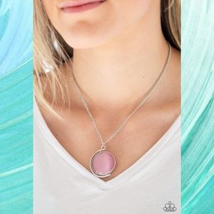Luminous Lagoon Pink Moonstone Necklace Set